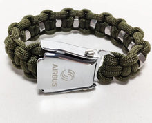 Load image into Gallery viewer, HIGH QUALITY AIRPLANE SEAT BELT (ARMY-GREEN) DESIGNED BRACELET