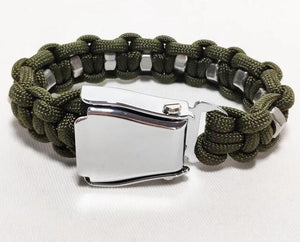 HIGH QUALITY AIRPLANE SEAT BELT (ARMY-GREEN) DESIGNED BRACELET