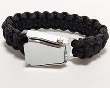Load image into Gallery viewer, HIGH QUALITY AIRPLANE SEAT BELT (BLACK) DESIGNED BRACELET
