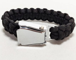 HIGH QUALITY AIRPLANE SEAT BELT (BLACK) DESIGNED BRACELET