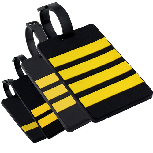 Captain's Epaulette Airplane Rubber Luggage Tag