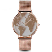 Load image into Gallery viewer, World Map Fashion Watch