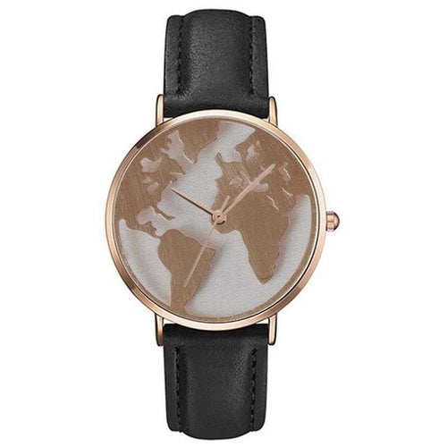 World Map Fashion Watch