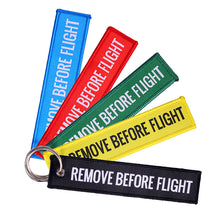 Load image into Gallery viewer, Remove Before Flight keychain