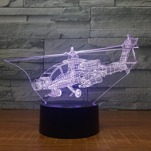 Helicopter 3D Lamp