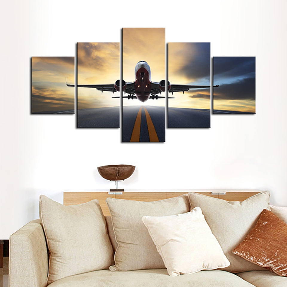 HD Airplane Canvas Art