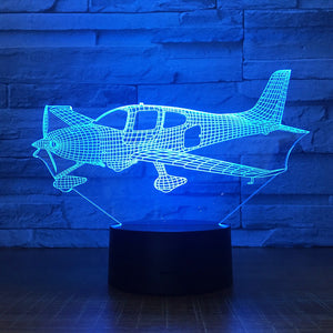 Airplane 3D lamp