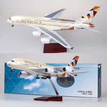 Load image into Gallery viewer, Etihad Airways Airbus A380 Resin Model - 1:160 scale