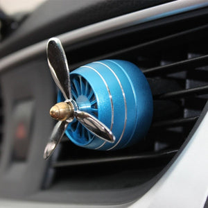 AIRPLANE PROPELLER CAR AIR FRESHENER WITH LED