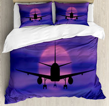 Load image into Gallery viewer, Airplane Duvet Cover Set