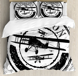 Vintage Airplane Duvet Cover