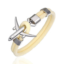 Load image into Gallery viewer, AIRPLANE ANCHOR BRACELET