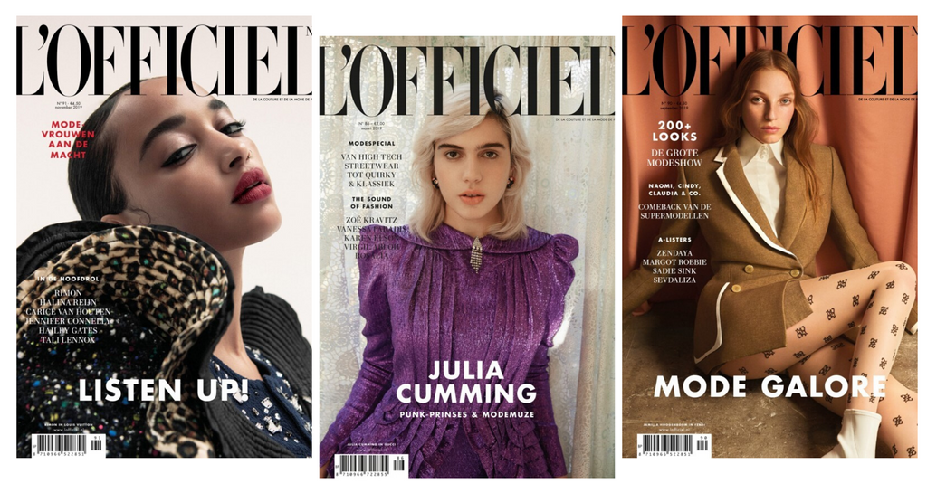 Thea Lewis-Yates - L'Officiel covers