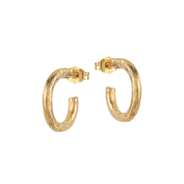 Textured Mini Hoop Earrings