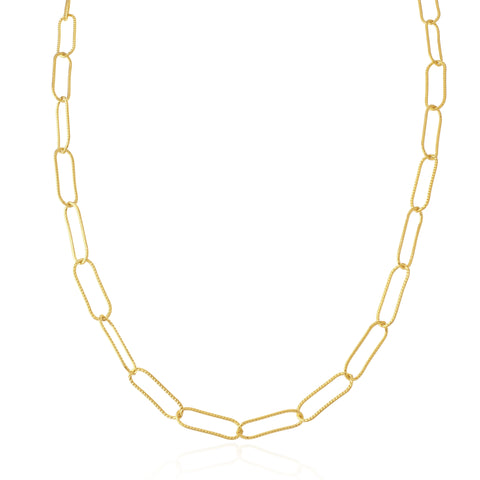 Sondr London - The Deia Textured Link Chain Necklace - Gold