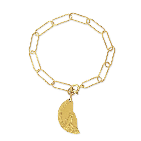 Sondr London - The Lea bracelet - 18kt gold plated bronze