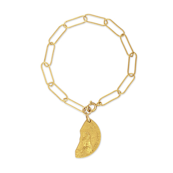 Sondr London - The Leo bracelet - 18kt gold plated bronze