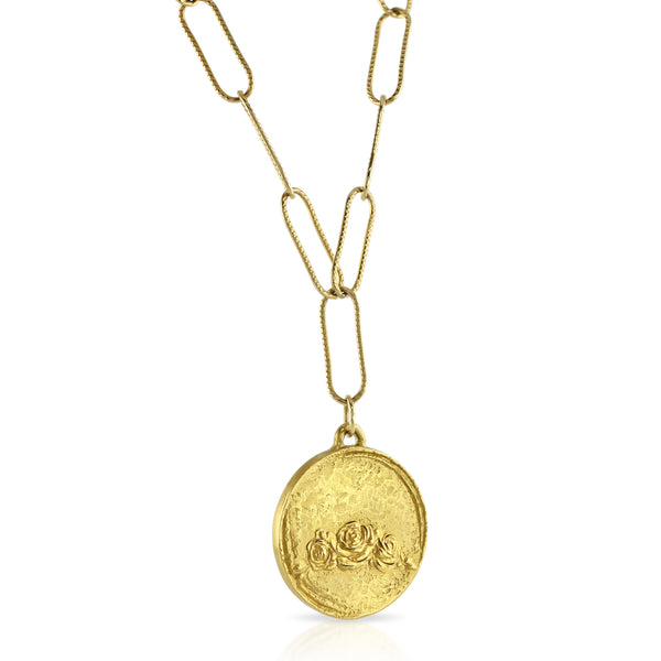 Sondr London - The Rose Garden necklace - 18kt gold plated bronze