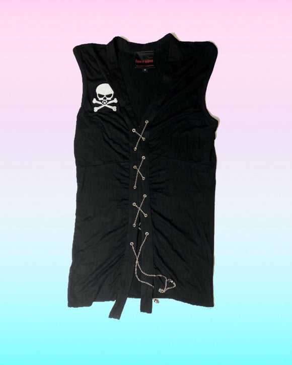 Queen of Darkness Skull Top/Vest