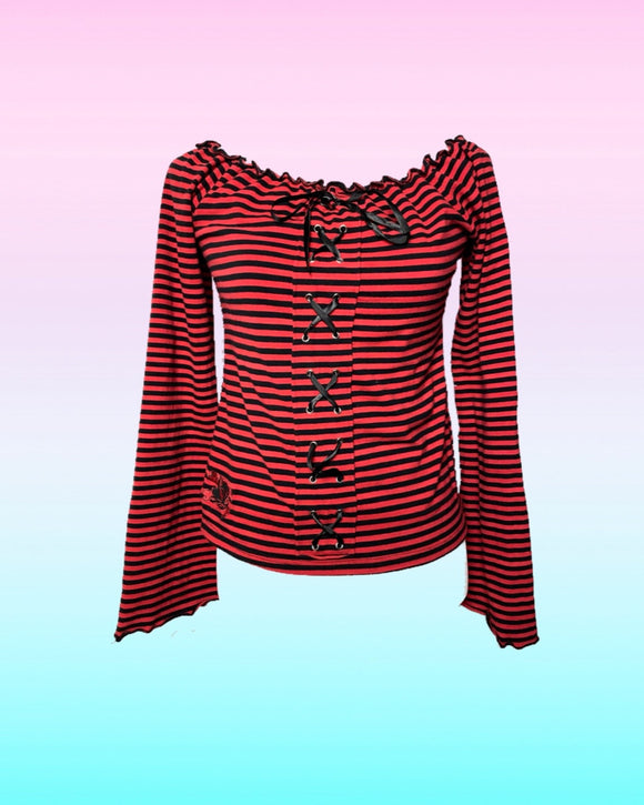 Red Striped Longsleeve Shirt