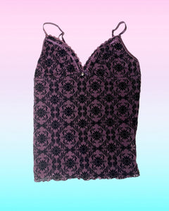 Purple Goth Top
