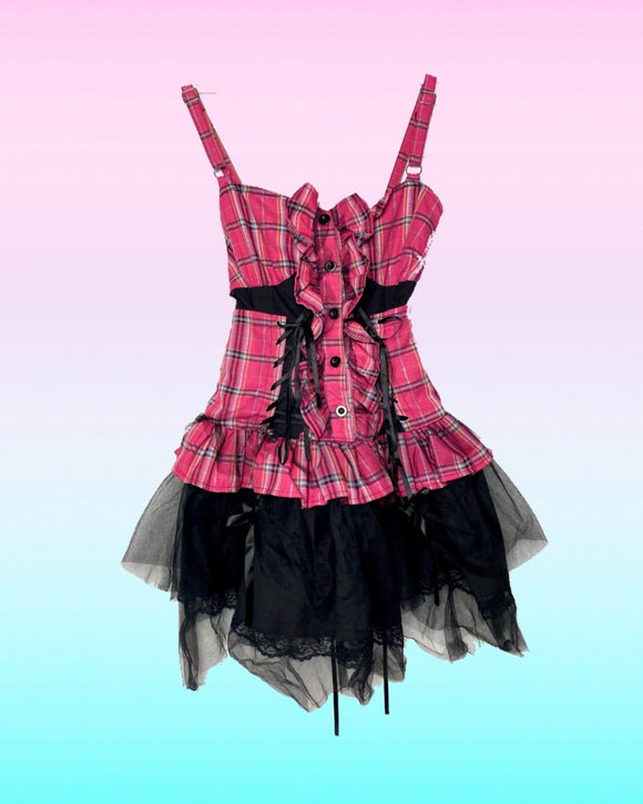 XS PUNK Plaid Dress