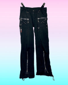 Punk Goth Pants with Zippers