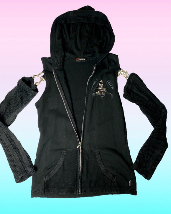 Grim Reaper Jacket with Cut outs