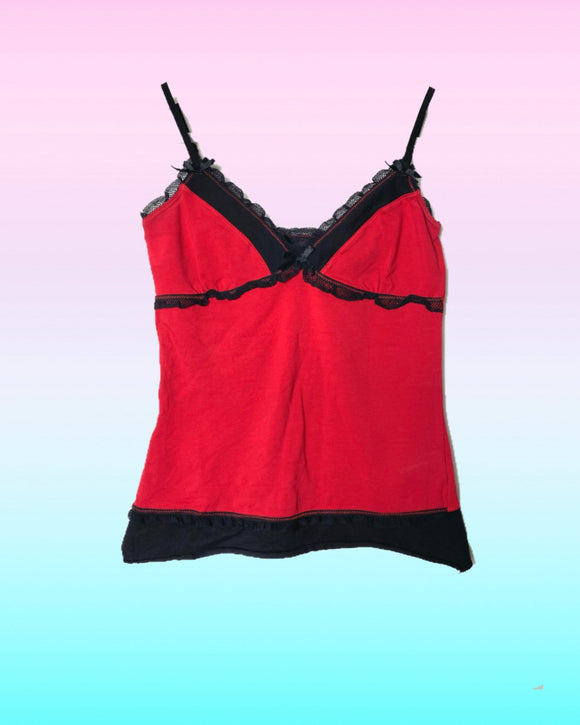 Red Goth Top