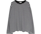 Oversized Stripey Sweatshirt [2 Colors]