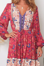 Load image into Gallery viewer, Fushcia Dreamcatcher Long Sleeve Mini Dress