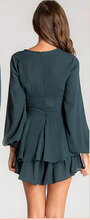 Load image into Gallery viewer, Emerald Green Textured Long Sleeve Playsuit
