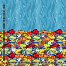 Load image into Gallery viewer, Swim: Kaleidoscope Fish (13.1 recycled bottles per yard)