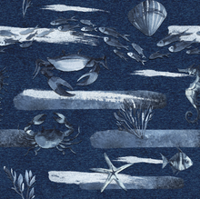 Load image into Gallery viewer, Athletic Knit: Cerulean Sea (16.2 recycled bottles per yard)