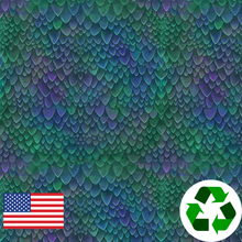 Load image into Gallery viewer, Brushed Jersey: Small Dragon Scales (17.5 recycled bottles per yard)