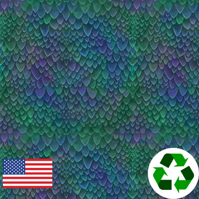 Brushed Jersey: Small Dragon Scales (17.5 recycled bottles per yard)