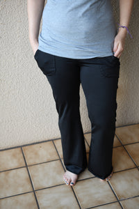 Solid Black, Soft: Recycled Poly (19 recycled plastic bottles)/Spandex