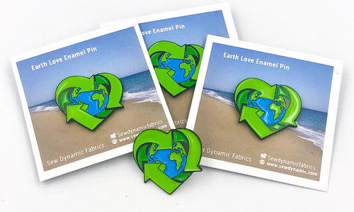 enamel pin, recycle enamel pin, donation, plastic pollution