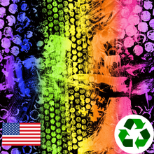 Load image into Gallery viewer, Brushed Jersey: Neon Dots (17.5 recycled bottles per yard)