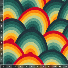 Load image into Gallery viewer, Retro Rainbows - Large Scale