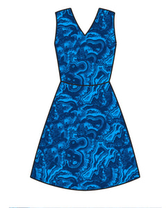 Athletic Knit: Rock Strata in Blue  (16.2 recycled plastic bottles)