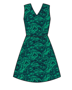 Athletic Knit: Rock Strata in Green  (16.2 recycled plastic bottles)