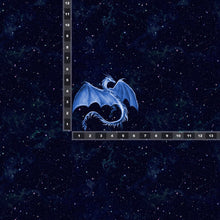 Load image into Gallery viewer, Brushed Jersey:  Small Blue Dragon Panel (Fat Half)