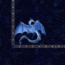 Load image into Gallery viewer, Brushed Jersey:  Large Blue Dragon Panel (Fat Half)