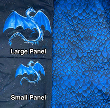 Load image into Gallery viewer, Brushed Jersey: Large Blue Dragon Scales (17.5 recycled bottles per yard)