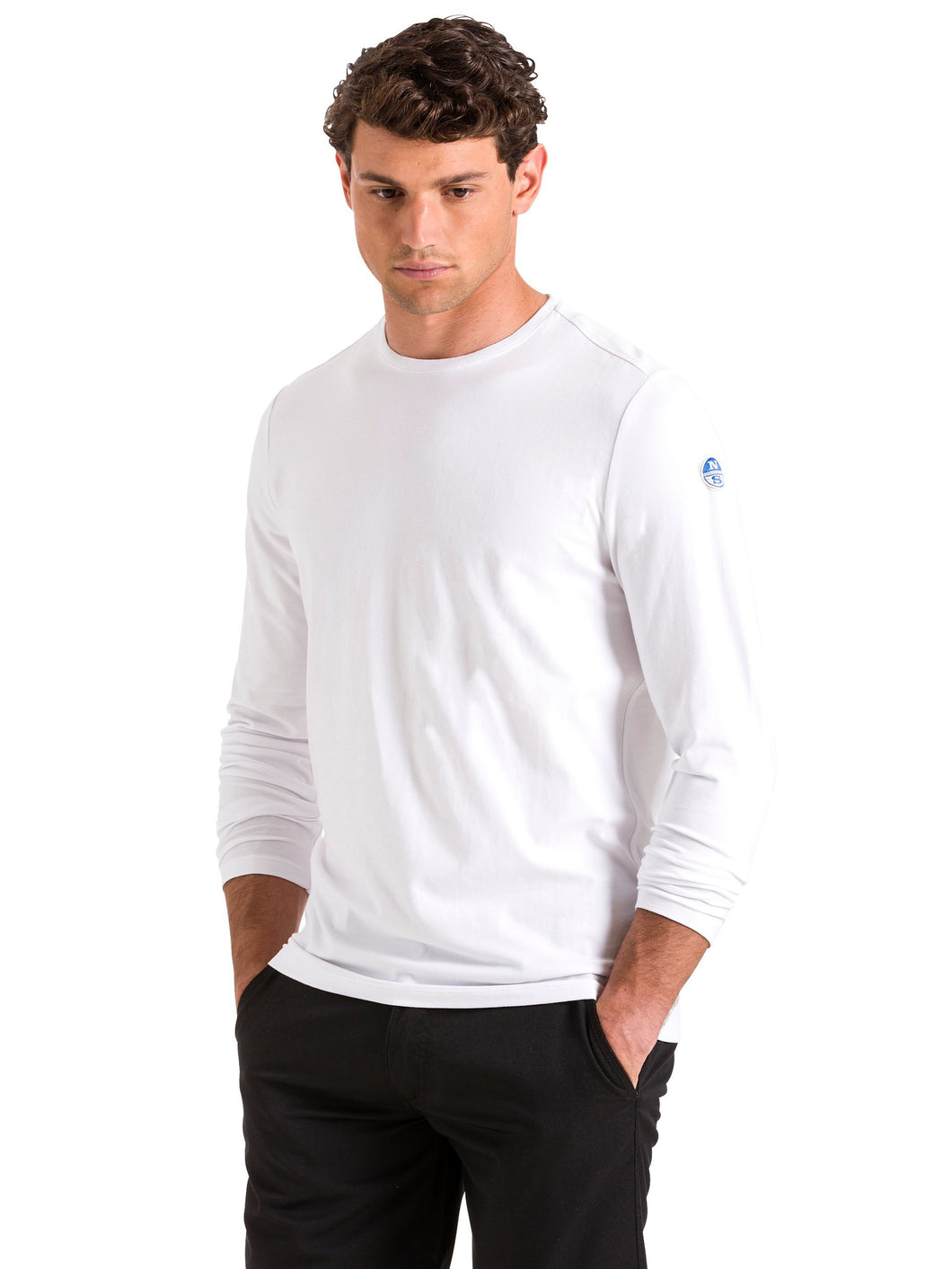 North Sails Mens Long Sleeve Cotton-Jersey T-Shirt