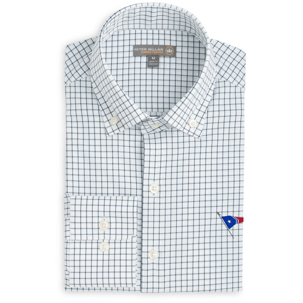 Peter Millar Men's Captain Performance Tattersall Sport Shirt