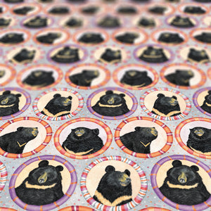 Moon bear wrapping paper
