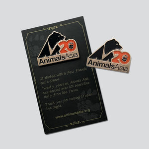 20th Anniversary pin badge (rose gold)
