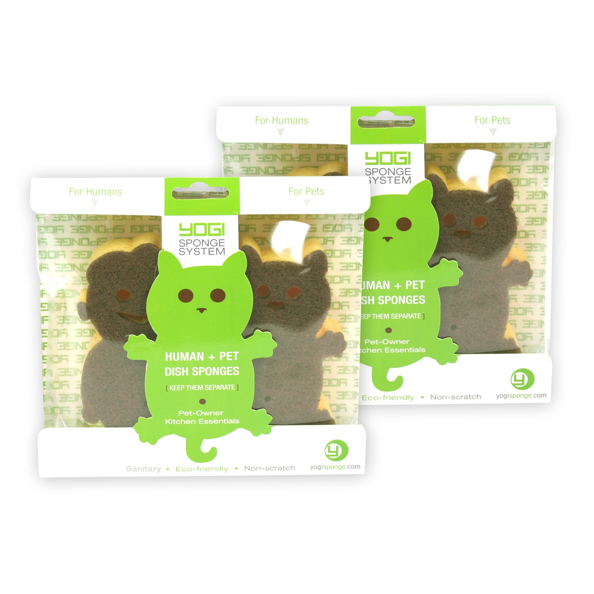 2 Packs of Yogi Sponge Human/Cat